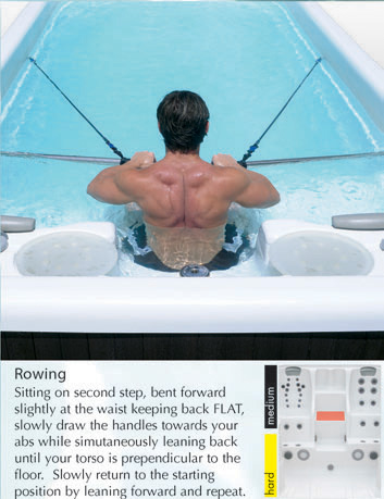 Aquatic Fitness Program - Lower Body - Rowing
